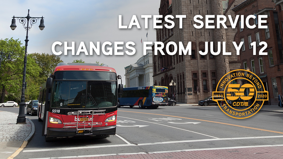 Latest Service Changes from July 12