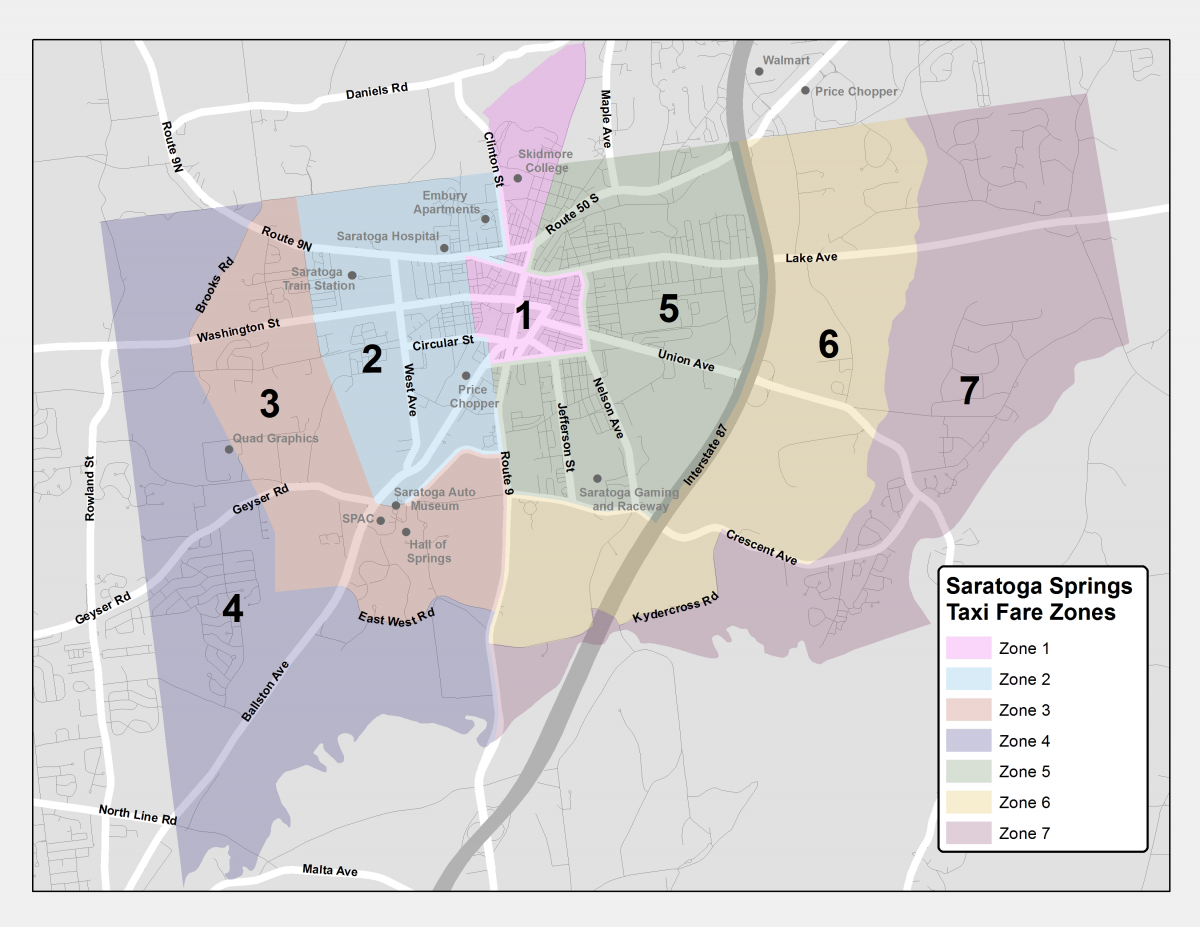 click map to enlarge. city of saratoga taxi rates  wwwcdtaorg