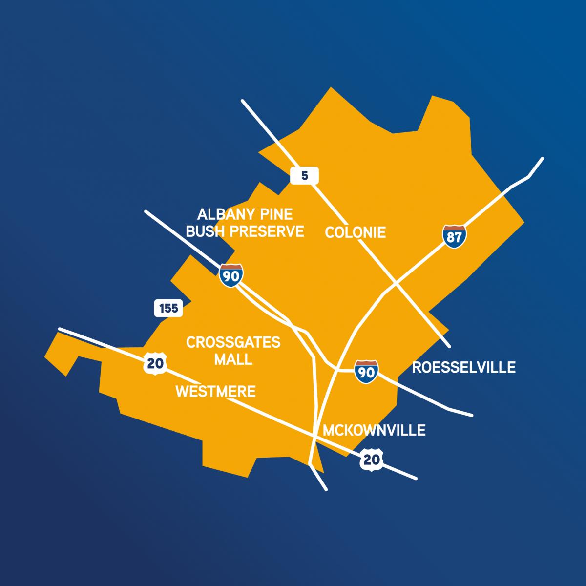 Flex Service Area Map