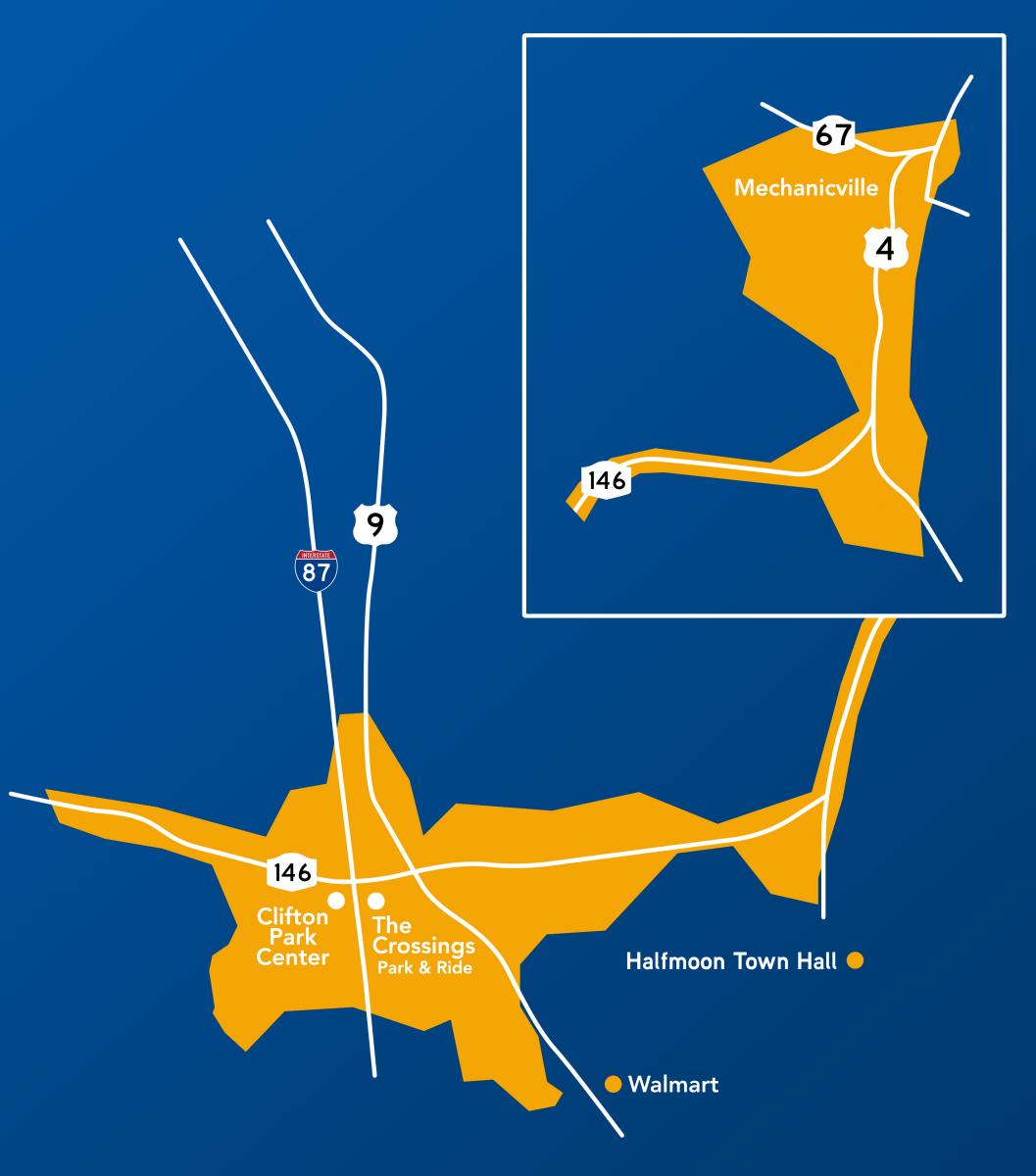 Flex Service Southern Saratoga Map