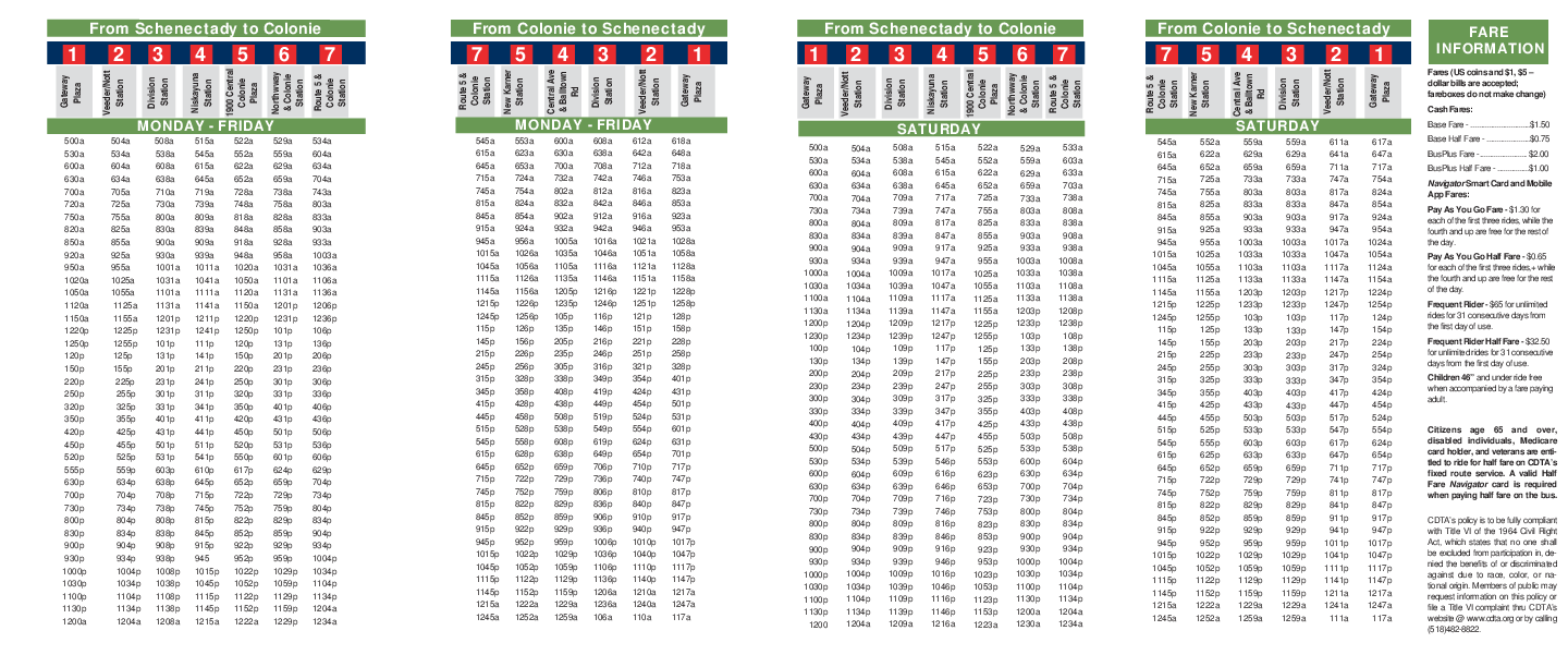 Download And Print Schedule