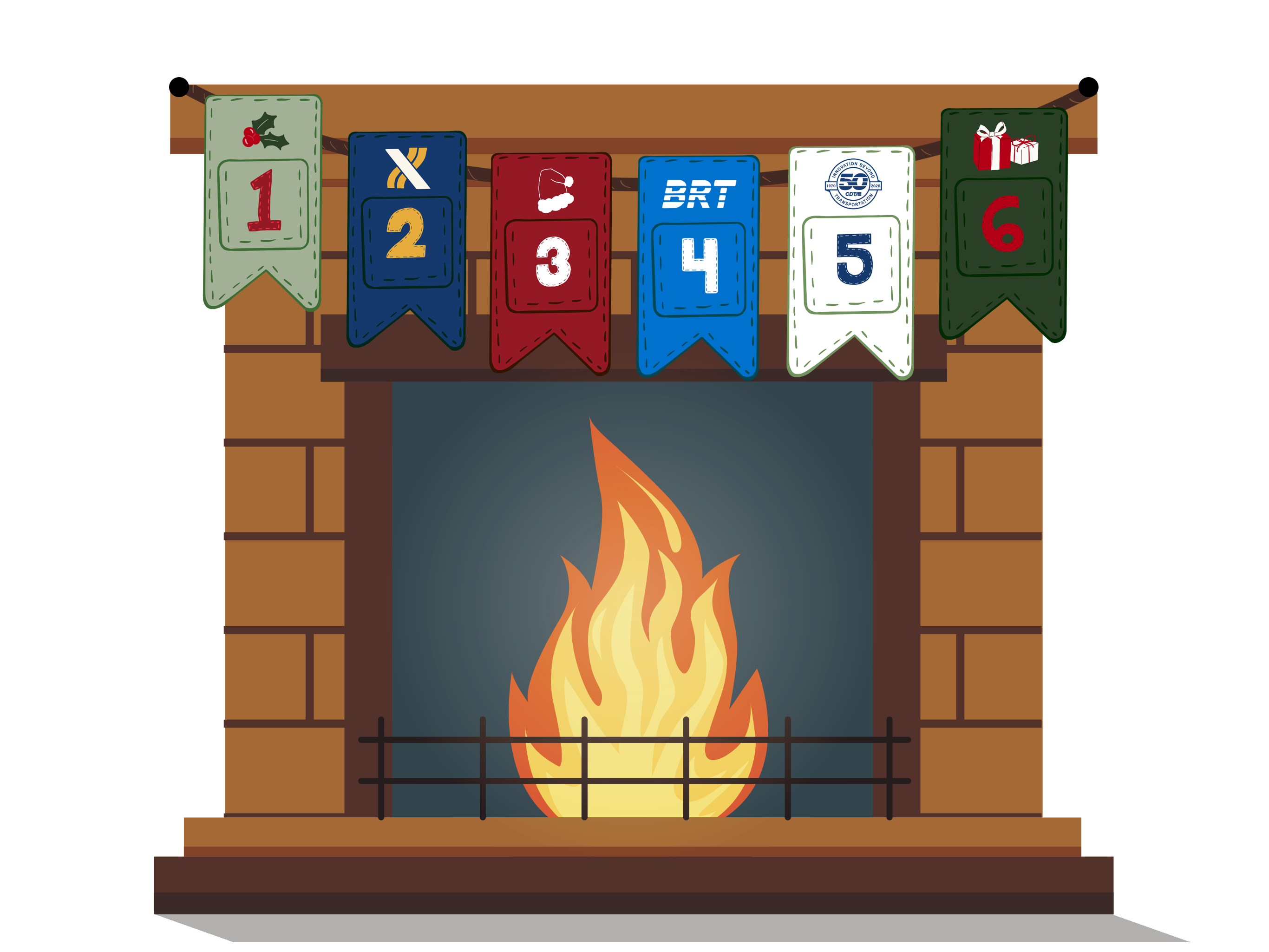 Fireplace with Advent Calendar