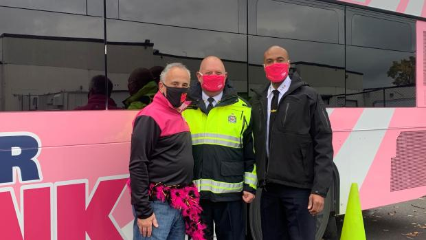 4th Annual Pink Bus Pull Brings Essential Workers Together