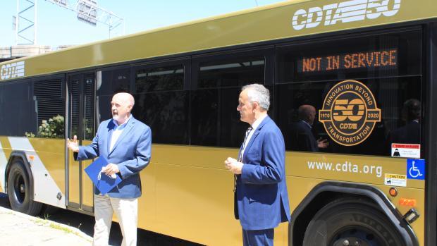 CDTA Carm Basile and Troy Mayor Patrick Madden