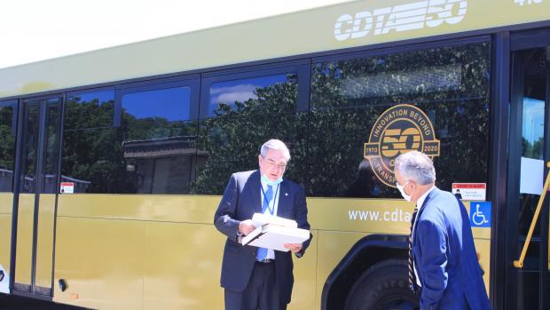 CDTA Carm Basile and Schenectady Mayor Gary McCarthy