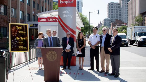 Lark and Washington Transit Improvement Project Completed