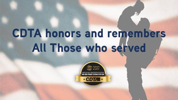 CDTA Announces Memorial Day Service and Parade Reroutes