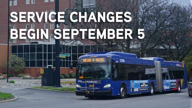 Service Changes Begin September 5