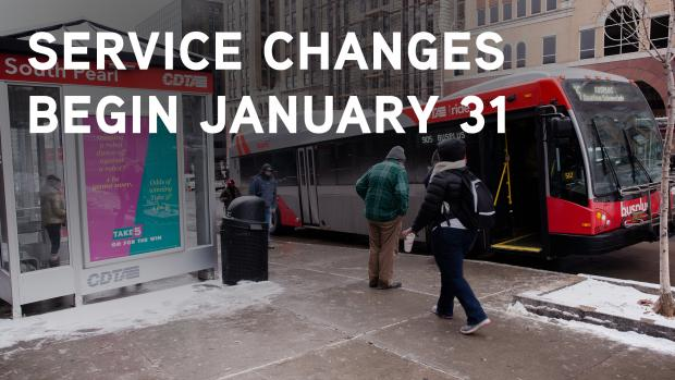 Service Changes Begin January 31
